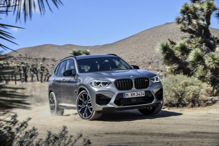 This photo provided by BMW shows the 2020 X3 M Competition, a performance variant of the popular luxury crossover known for engaging handling and class-leading cargo space