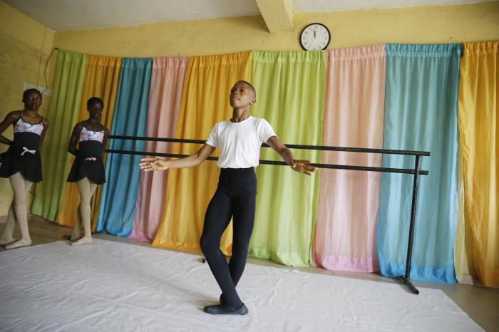 Ballet dancer Anthony Mmesoma Madu rehearses in Lagos, Nigeria.