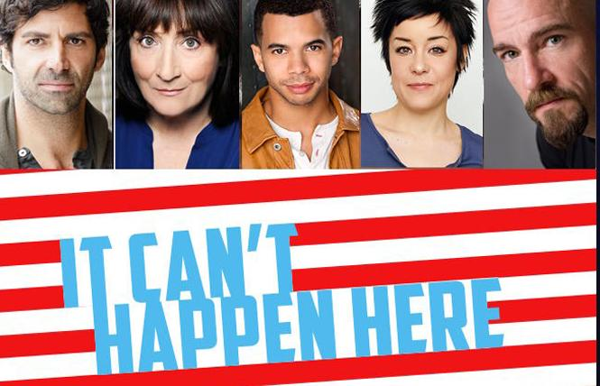 Elijah Alexander, Sharon Lockwood, William Thomas Hodgson, Anna Ishida and Scott Coopwood, just a few of the actors in 'It Can't Happen Here' radio play.