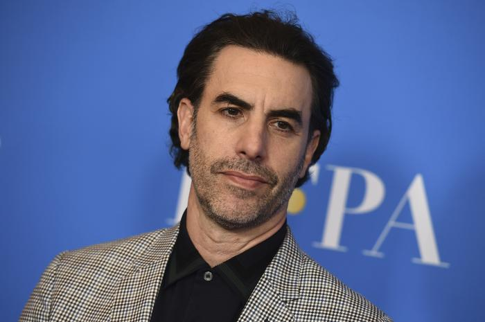 Sacha Baron Cohen arrives at the 2019 Hollywood Foreign Press Association's Annual Grants Banquet at the Beverly Wilshire Beverly Hills, Calif.