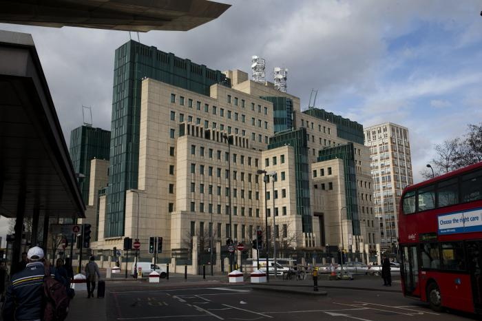 A general view of the MI6 building in London. The head of Britain's MI6 intelligence service, Richard Moore said in a video statement on Twitter.