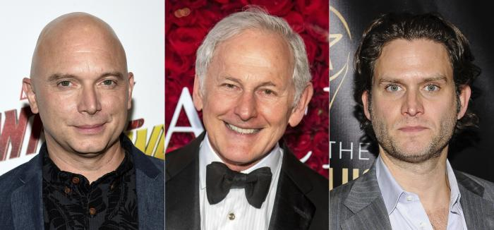 """From left, Michael Cerveris, Victor Garber and Steven Pasquale, who will participate in the dark musical """"Assassins,"""" for a streaming fundraising event."""