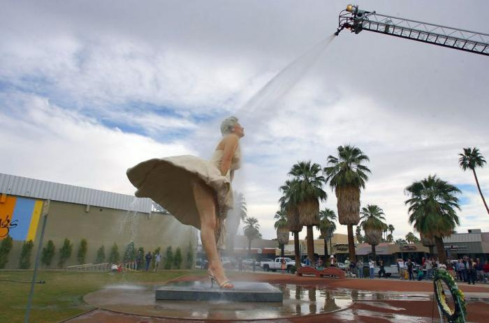 The Forever Marilyn statue in Palm Springs