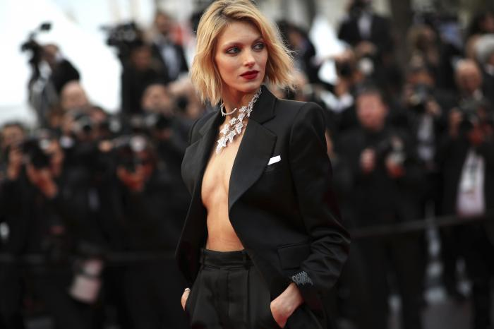Model Anja Rubik poses for photographers at the 72nd international film festival, Cannes, southern France.