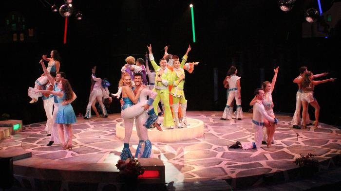 """The cast of """"Mamma Mia!"""" at the NSMT through October 17"""